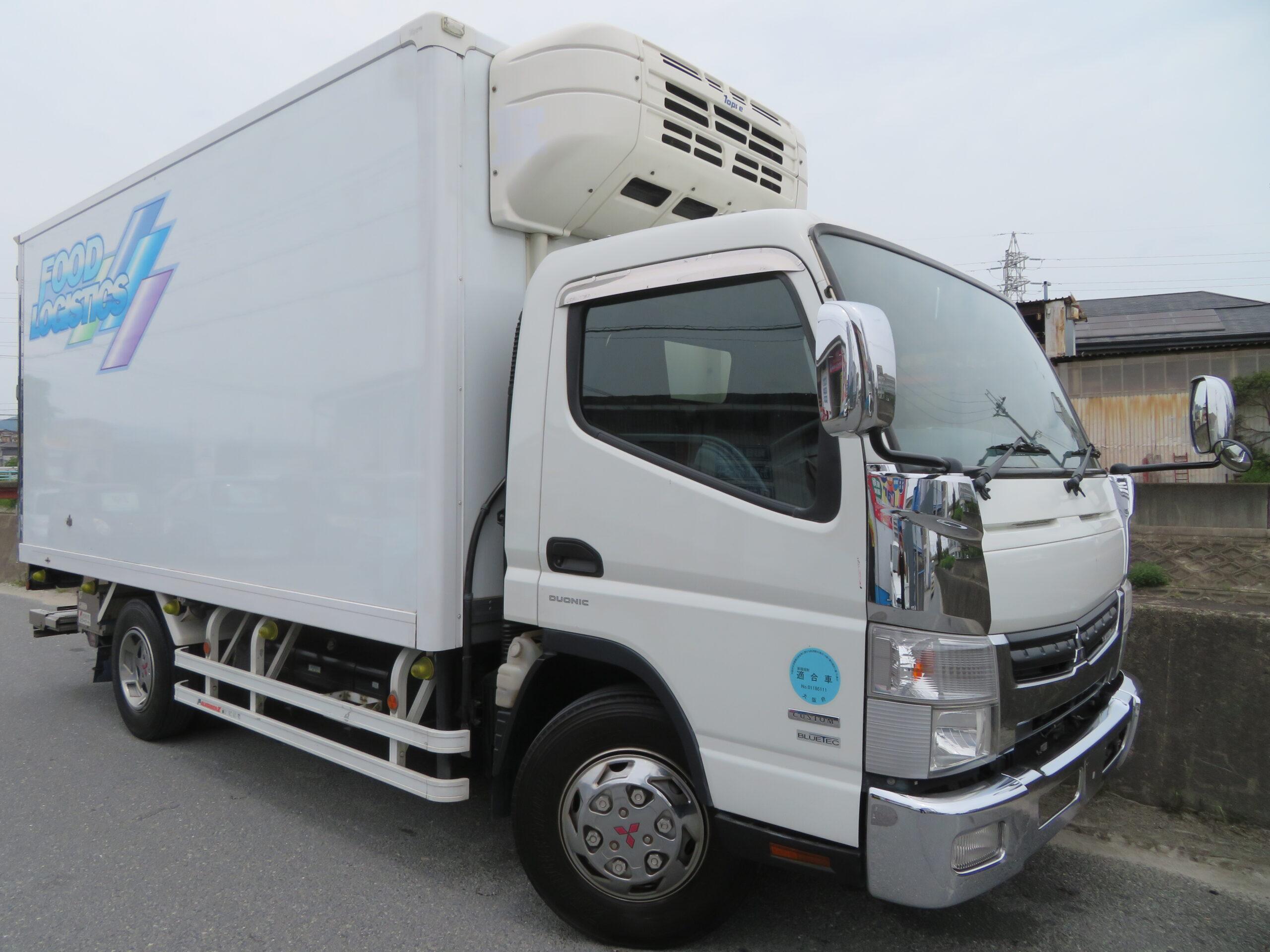平成25年式 三菱 キャンター 3.3トン AT ワイドロング 冷凍冷蔵車 格納パワーゲート付き カスタム!!!!!ラッシングレール2段!サイドドア付き★★