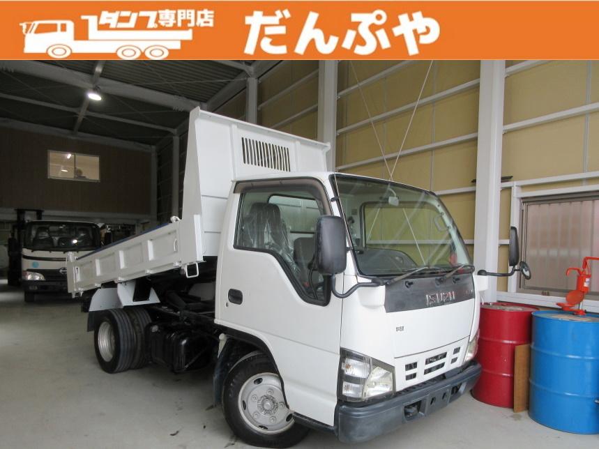 平成18年式 いすゞ エルフ 2トン 低床 強化ダンプ 5MT  コボレーン 荷寸304-159-31(57) 荷台塗装済!! 極東開発DD02-31